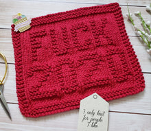 Load image into Gallery viewer, Red F*ck 2020 Dishcloth - Eco Friendly Cloth - Hand Knit Wash Cloth - Fuck 2020