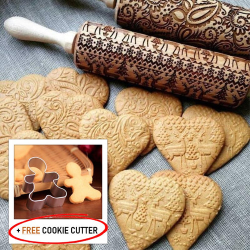 EasyBake Christmas Embossing Rolling Pin + FREE Cookie Cutter