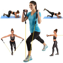 Load image into Gallery viewer, ULTIMATE FITNESS® Resistance Full Body Workout Band Set with Door Anchor and Travel Bag