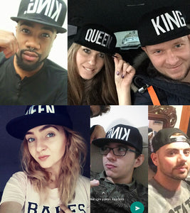 KING & QUEEN Embroidered Caps by UNLEASH