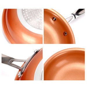Non Stick Copper Frying Pan with Ceramic Coating (Oven Suitable)-5th Avenue Mall