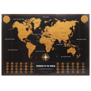WorldScratch - Scratch Off World Map Poster with Tube-5th Avenue Mall