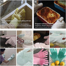 Load image into Gallery viewer, Washio! Magic Cleaning Silicone Bristle Gloves-5th Avenue Mall