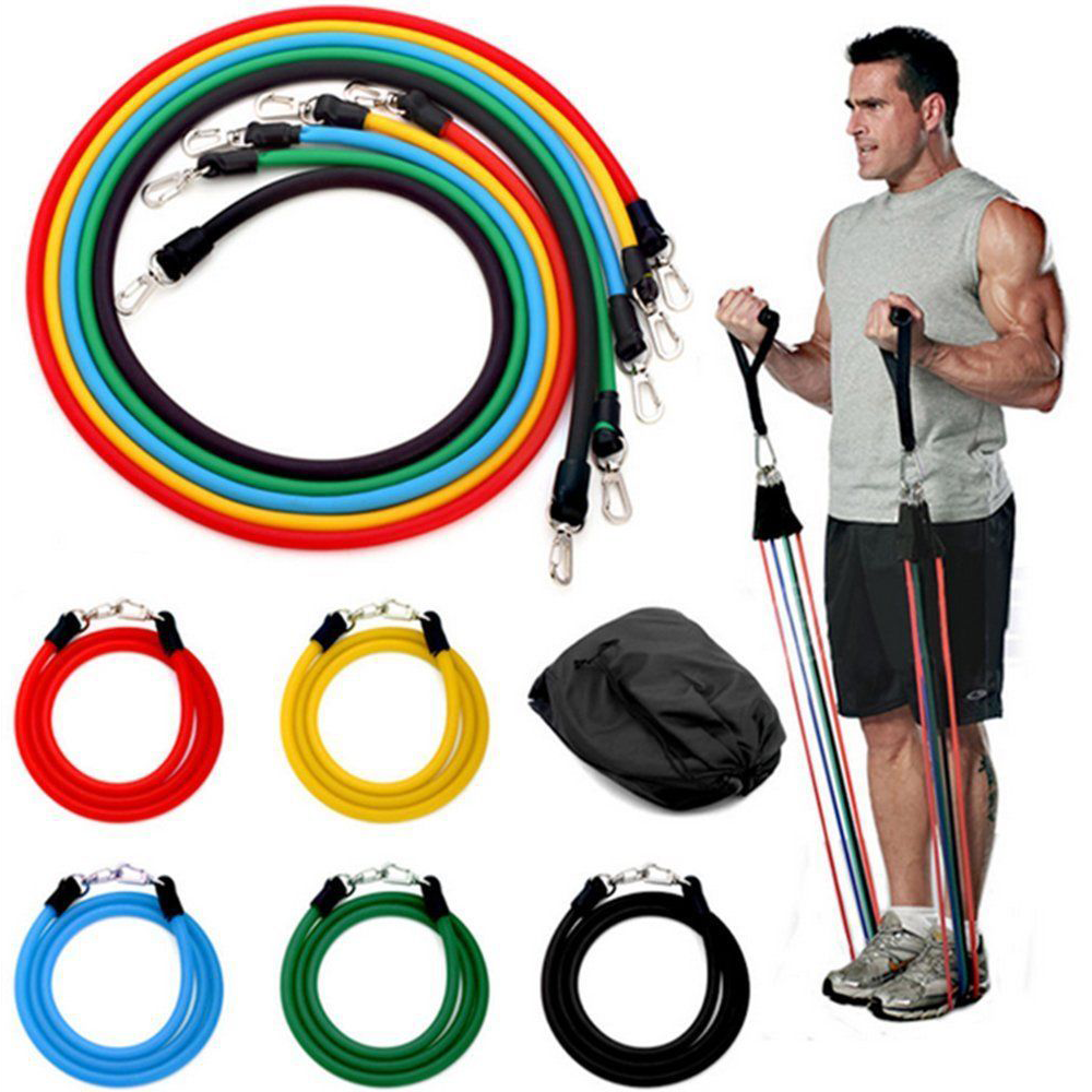 ULTIMATE FITNESS® Resistance Full Body Workout Band Set with Door Anchor and Travel Bag