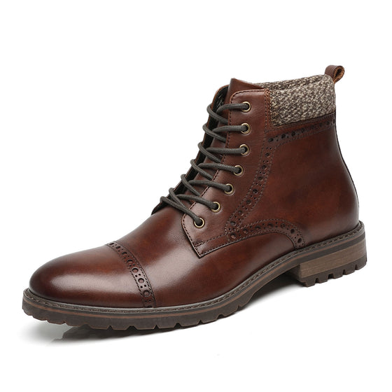 Men's Lace Up Boot Deeno-2-darkbrown