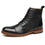La Milano Mens Dress Boots Cap Toe Lace up Leather Winter Oxford Casual Comfortable Ankle Combat Boots for Men