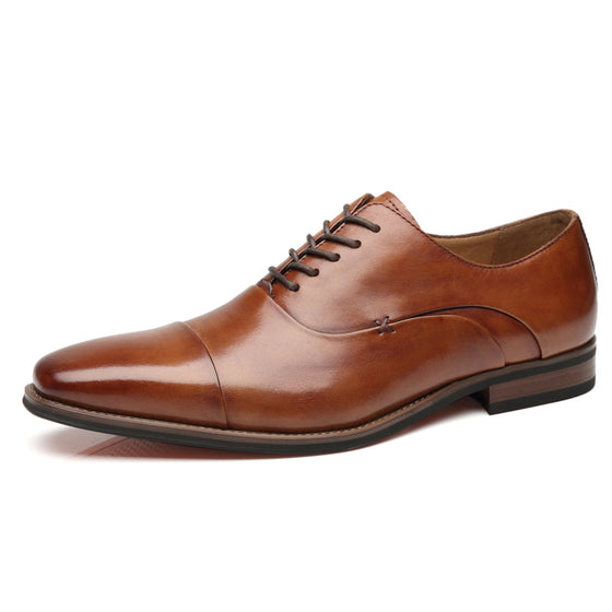 Men's Cap Toe Oxford Lace Up Shoes Micah-1-cognacNew Arrival, top sellingA11714cognac-7