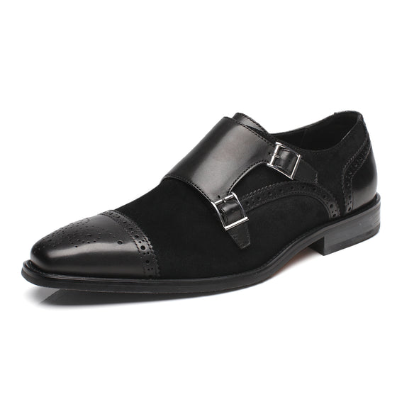 Men's Double Monk Strap Loafer 3-Black