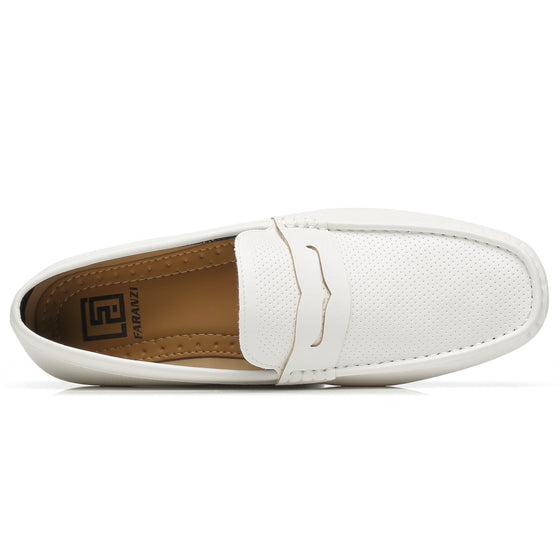 Men's Penny loafers Driving Moccasins Serpent-1-whitemoccasinsF41829white-7