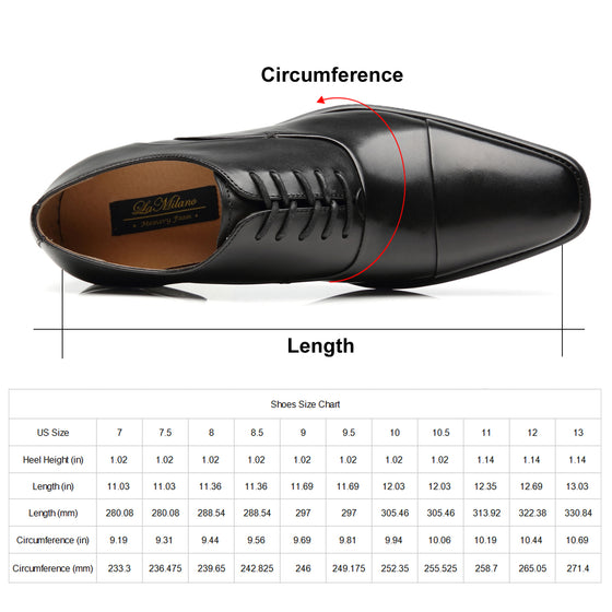 Men's Cap Toe Oxford Lace Up Shoes Micah-1-blackNew Arrival, top sellingA11714black-7.5