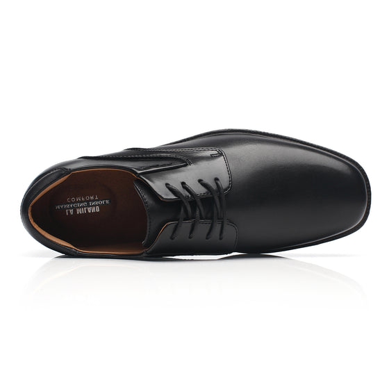 Mens Wide Width Oxford Shoes Wide-2-Black