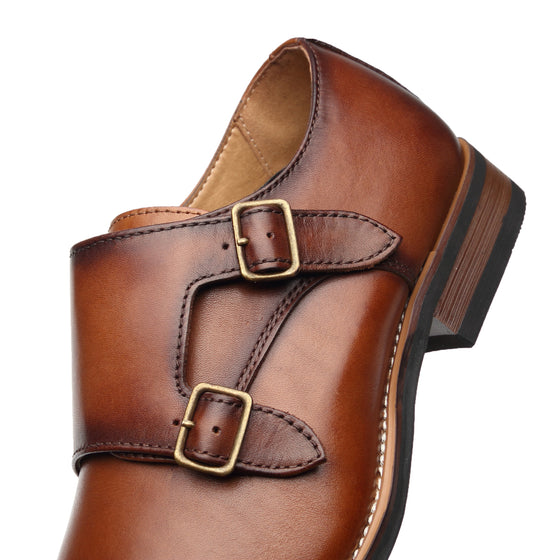 Men's Monk Strap browntop sellingA11641cognac-7