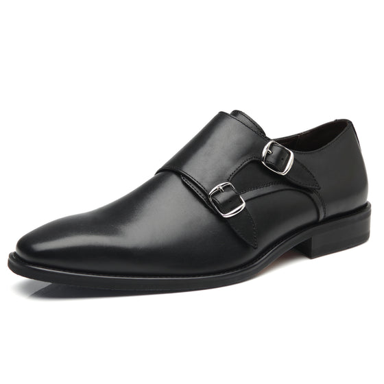 La  Milano  Mens Double  Monk Strap Slip On Loafer Leather Oxford For Mal Business Casual Co Mfortable Dress Shoes For  Men
