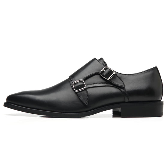 Mens Monk Strap Wing-2-black