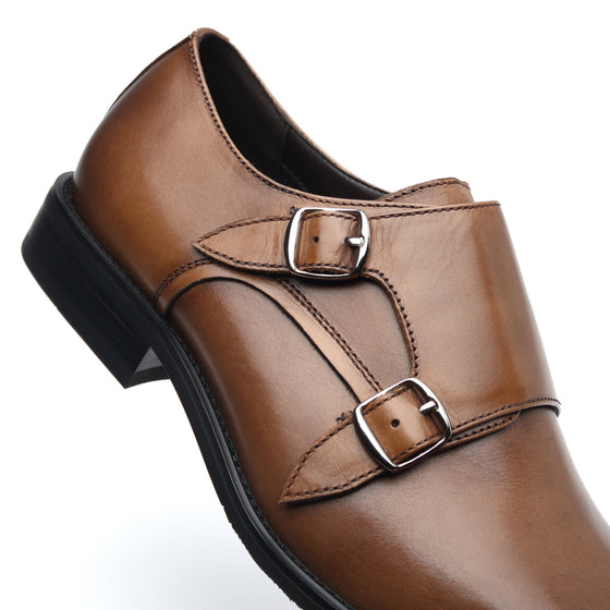 Men's Monk Strap Wing-2-brownA11321brown-7
