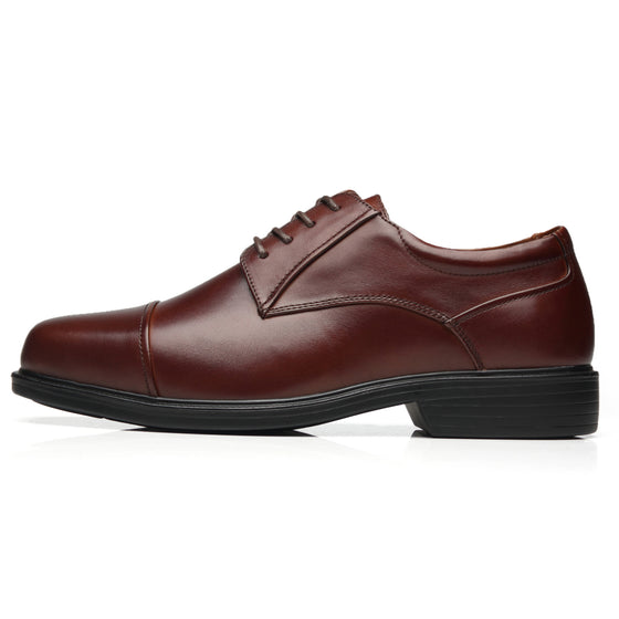 Mens Wide Width Oxford Shoes Wide-1-Brown