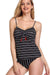 Stripe Print Padded Tankini Set