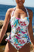 Multi Floral Tie Brief Halter Tankini Set