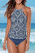Mandala Printed High Neck Two Piece Tankini Set