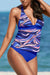 Halter Printed Back Tie Two Piece Tankini Set