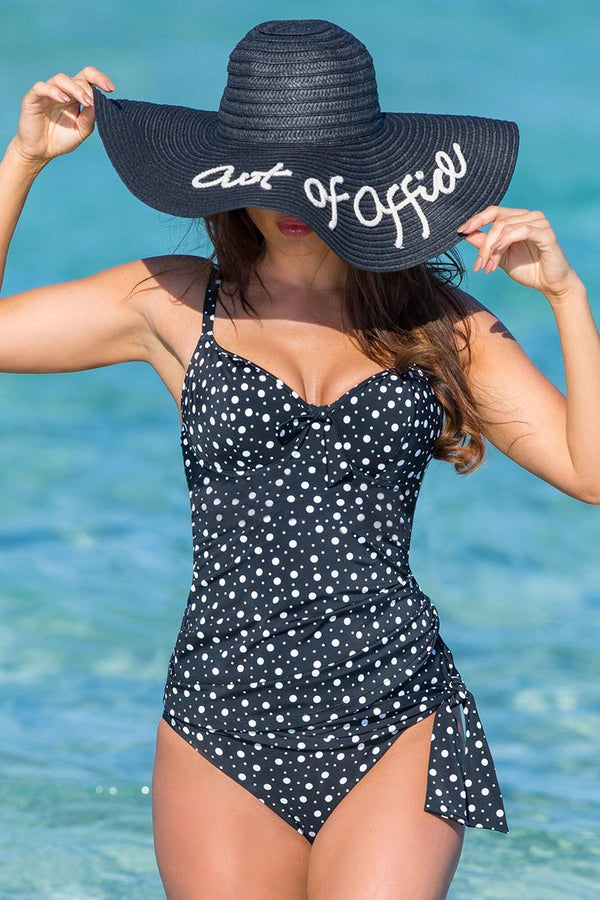 Sweetheart Lightly Padded Polka Dot Tankini Set