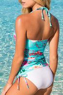 Halter Bloom Printed Seaside Tankini Set