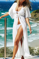 Beachsissi Short Sleeve Front Tie Cover Up