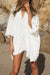 Beachsissi Solid Color Half Sleeve Bikini Cover Up