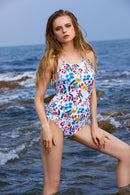 Blooming Scalloped Hem Halter Tankini Set