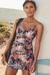 RUCHED SURPLICE TANKINI SET