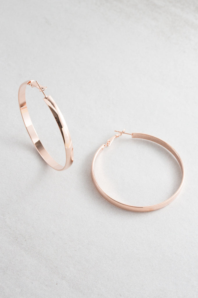 Lovoda Classic Hoop Earrings Rose Gold
