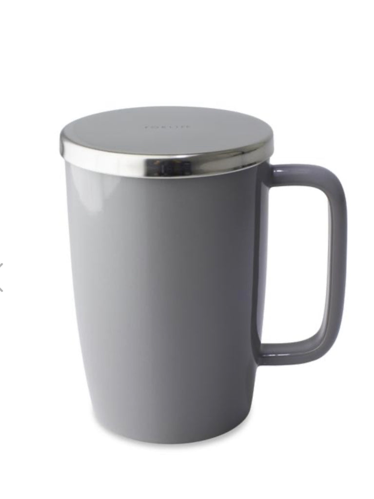 Dew Brew-in-Mug with infuser & lid GREY