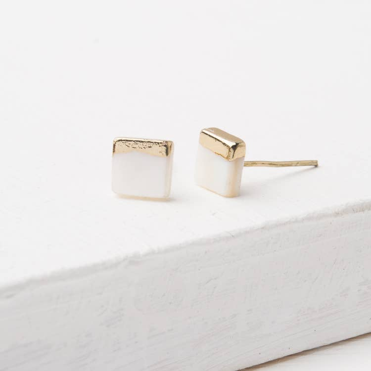 Kelly Mother of Pearl stud earrings