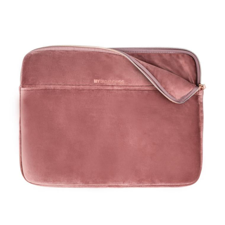 Mytagalongs Velour Laptop Sleeve ROSE