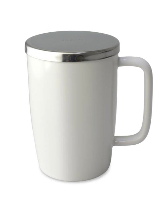 Dew Brew-in-Mug with infuser & lid WHITE