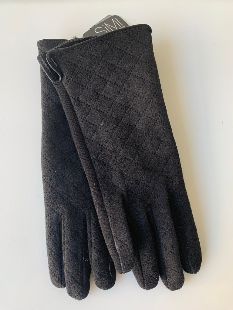 Ladies winter gloves black padded