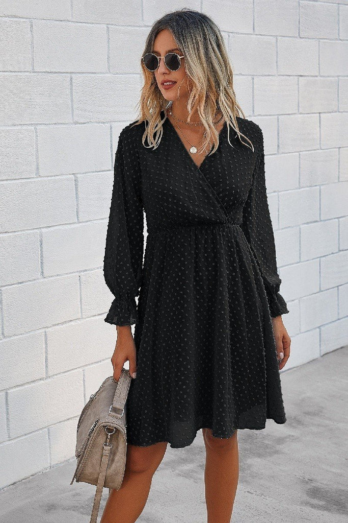 Lole dotted wrap dress