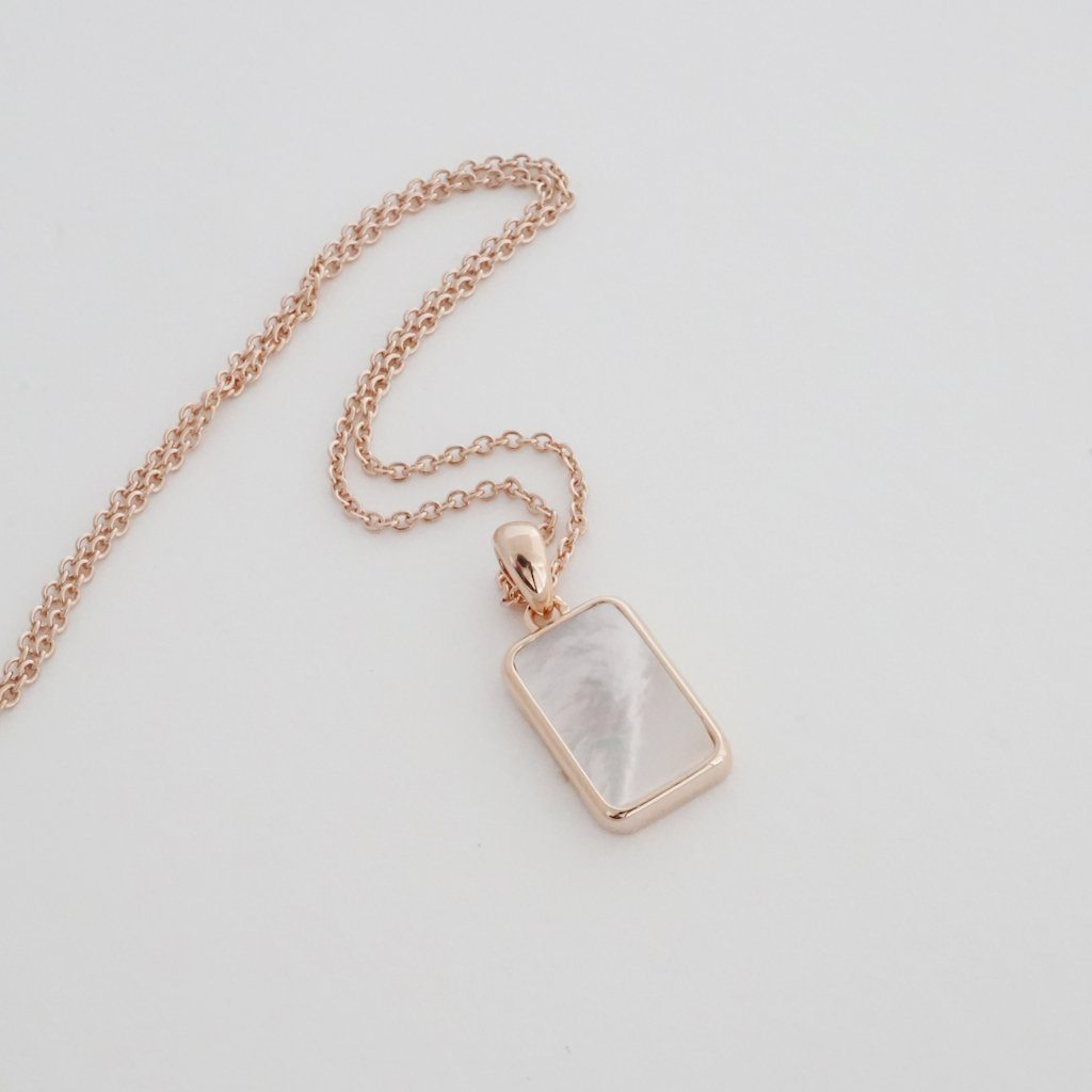 Honeycat Moonlight Pendent Necklace - rosegold
