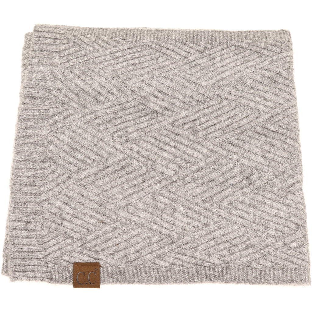 CC Beanie Scarf Light Grey Mix