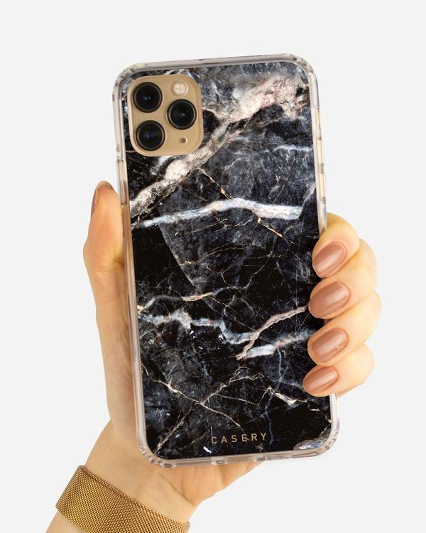 Casery iPhone case black marble