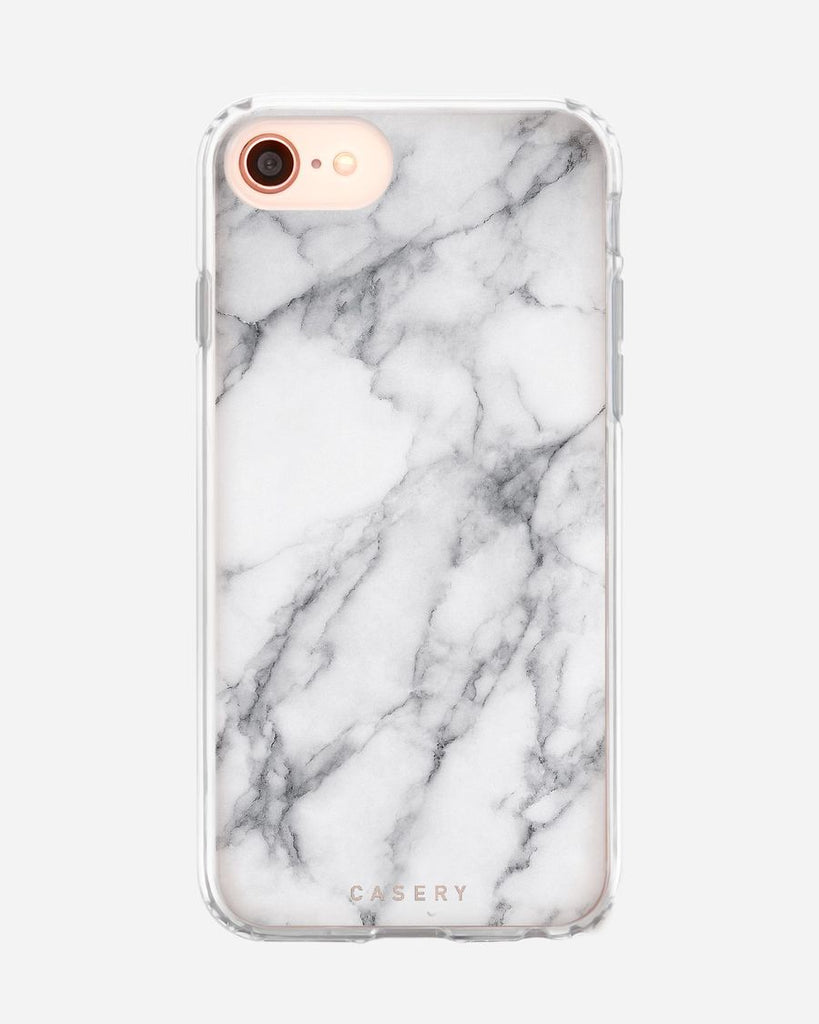 Casery white marble ultra slim phone case