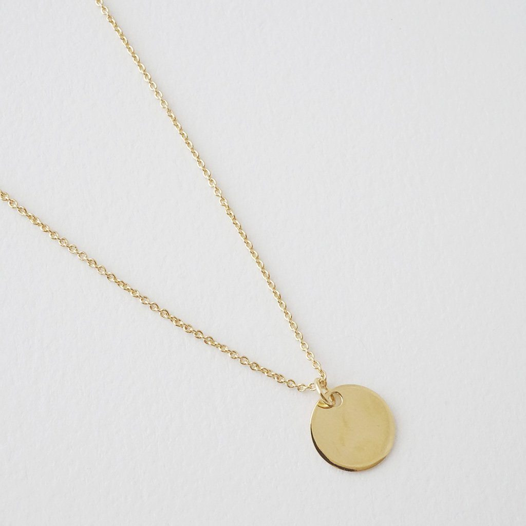 Honeycat Sun Circle Disk Necklace - gold