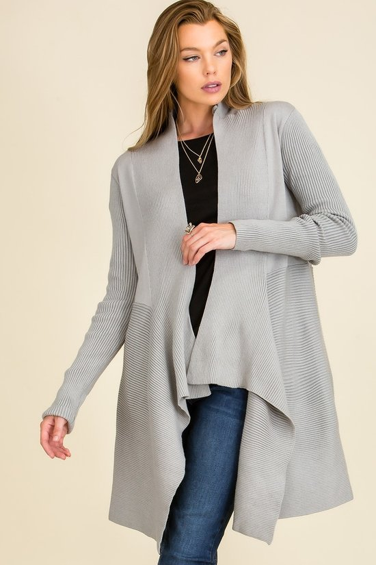 Grey Pleated sweater