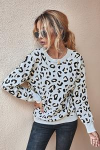 Emma Leopard Open Back sweater