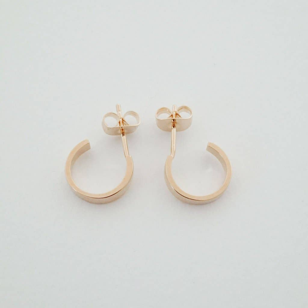 Honeycat Huggie Hoops - rose-gold