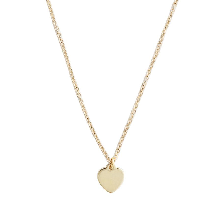 Honeycat heart charm necklace - champagne gold