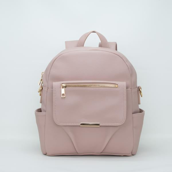Pretty Pockets Small Backpack - Dusty Pink