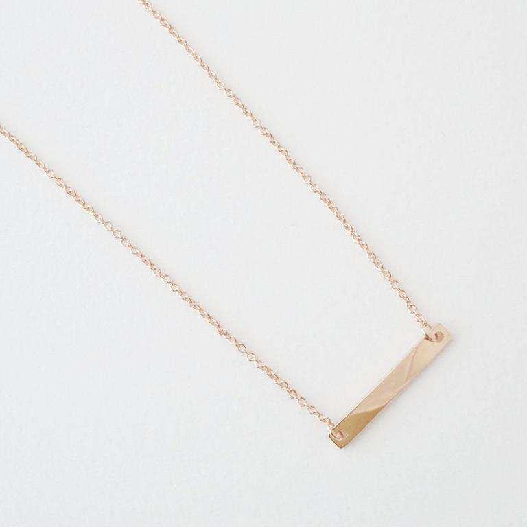 Honeycat mini bar necklace - rosegold