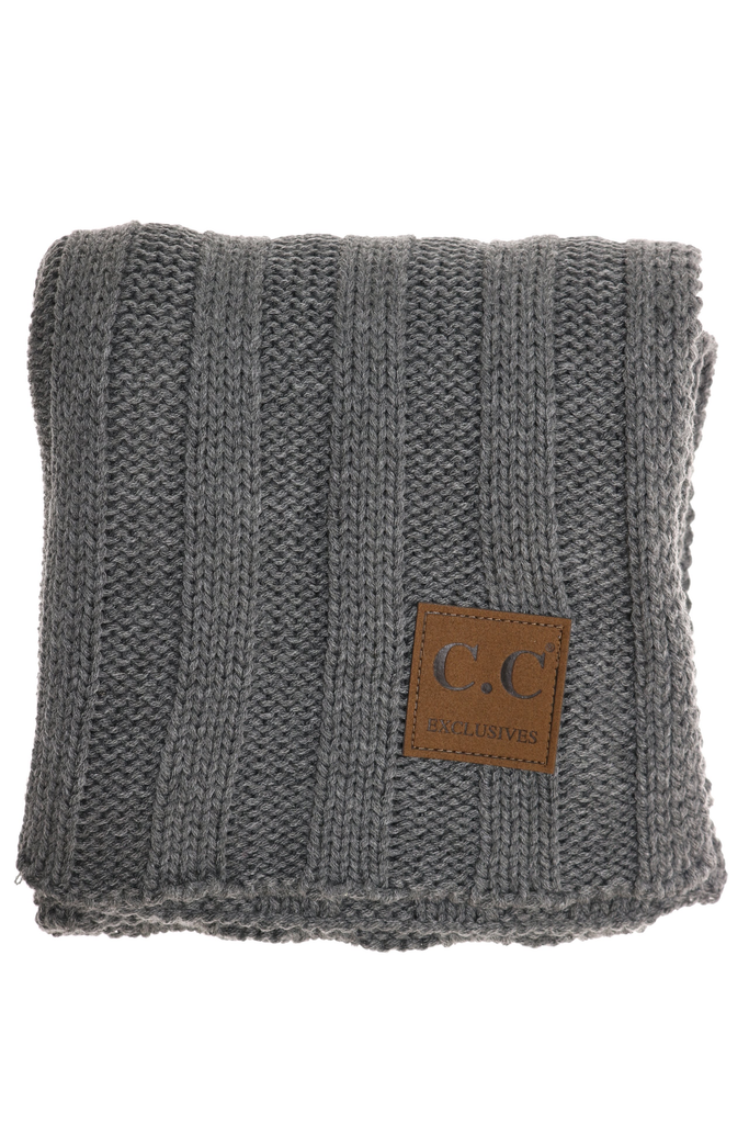 CC Beanie wide ribbed scarf