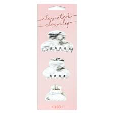 Kitsch marble clips 3 per pack